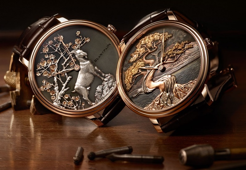 Blancpain les Metiers d'Art Villeret Shakudo Goat and Three of Life