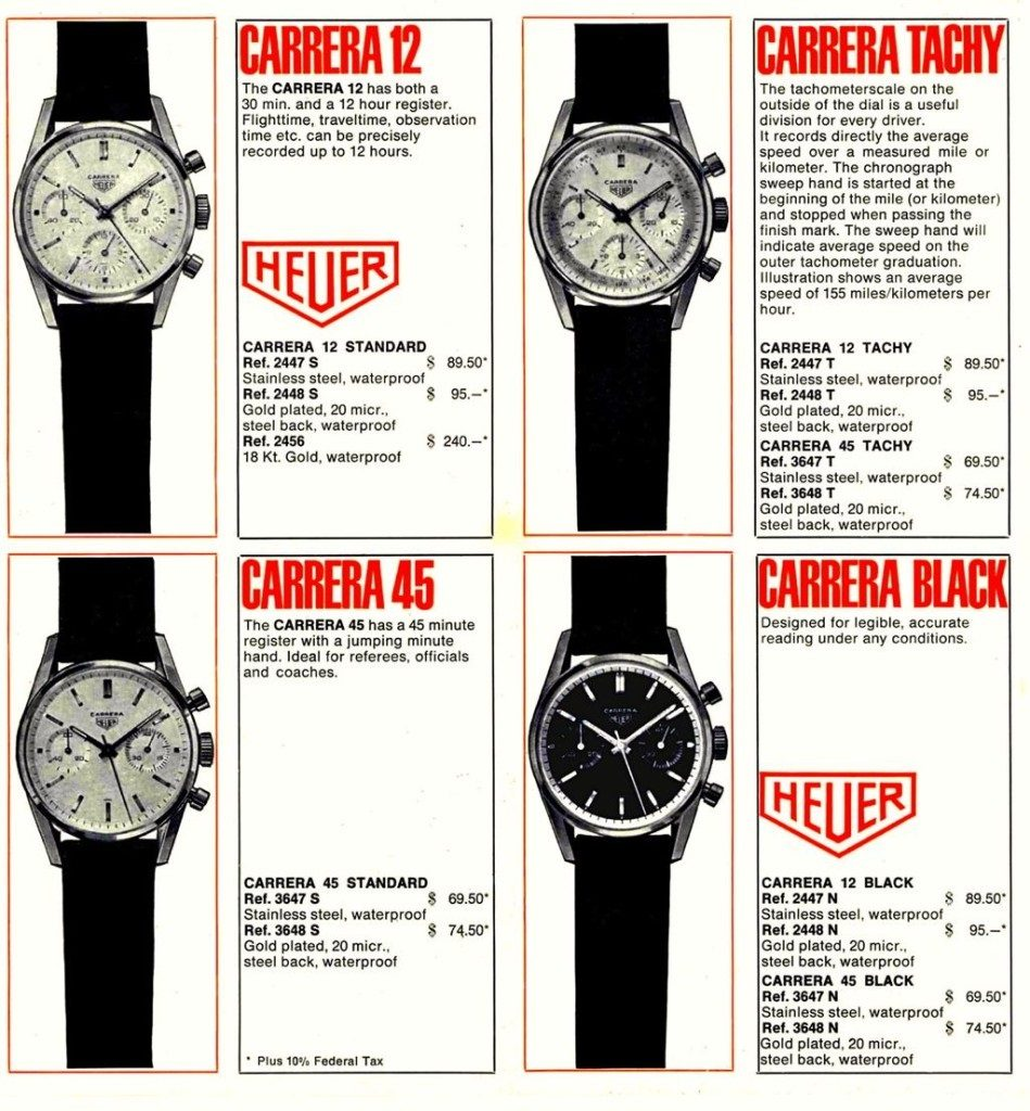 Heuer - Carrera 1964 Katalog
