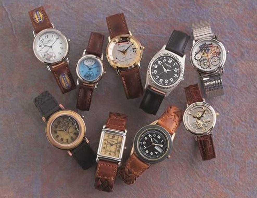 1990'lı yıllarda Fossil saatler