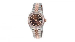 Lady Datejust 28 Chocolate Diamond Dial Jubilee Rolex Kadın Saati