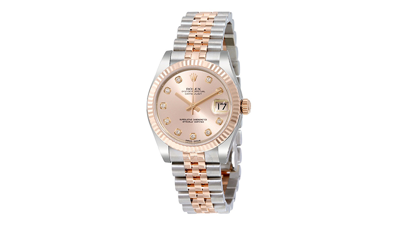 Lady Datejust 31 Pink Dial Stainless Steel and Everose Gold Jubilee Bracelet Rolex Kadın Saati