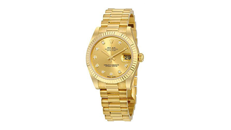 Lady Datejust 31 Yellow Gold President Rolex Kadın Saati
