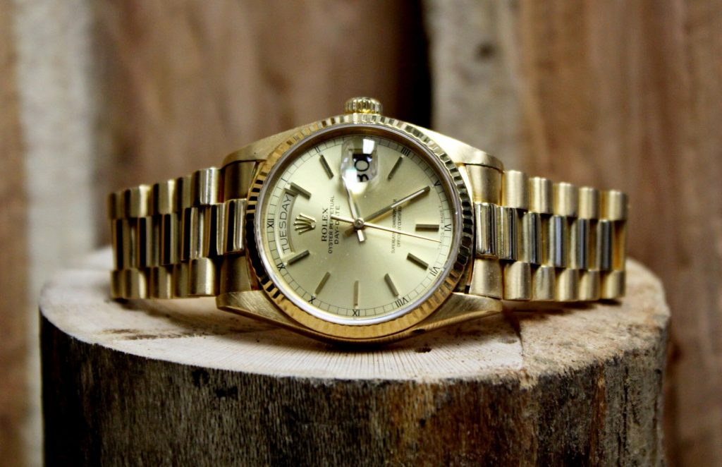 Rolex Day-Date Automatic Champagne Dial 18K Yellow Gold