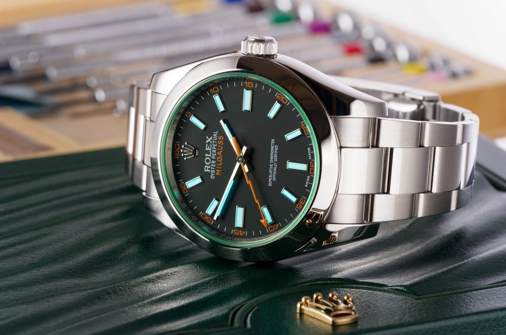 Rolex Milgauss Black Dial Stainless Steel