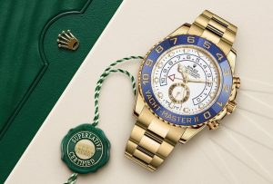 Rolex Yacht-Master II White Dial 18K Yellow Gold
