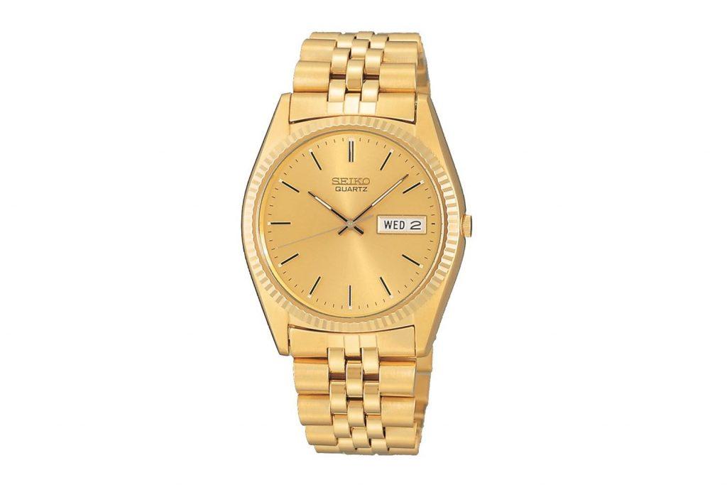 Seiko - SGF206 Altın Kaplama Erkek Kol Saati