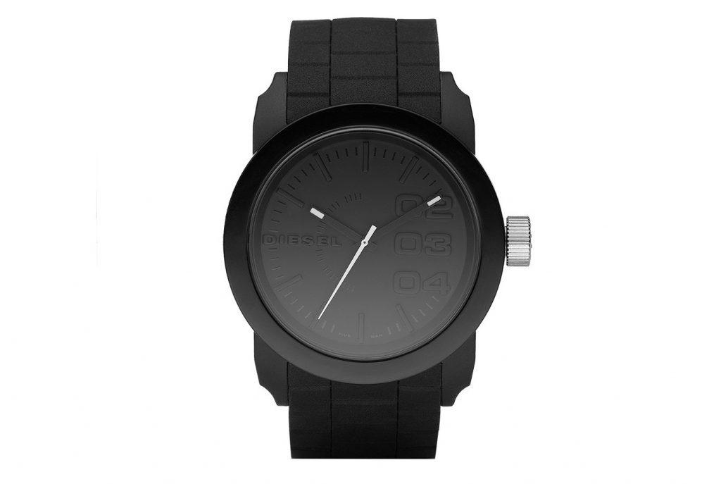 Diesel DZ1437 Double Down Black Silikon Kayışlı Erkek Saat Modeli