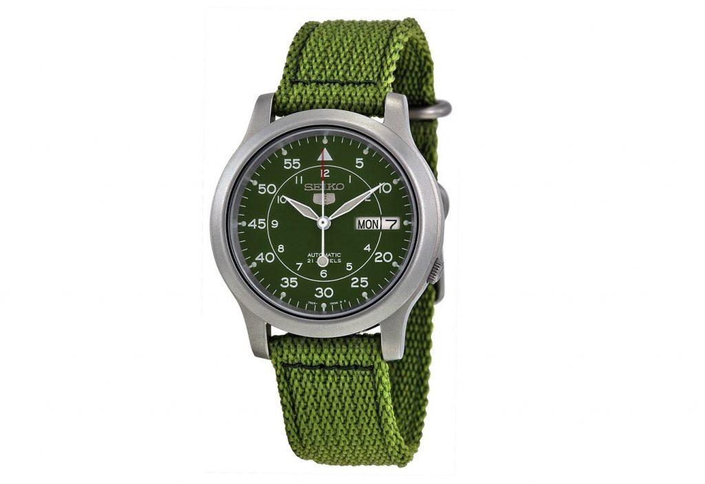 Seiko 5 Green Dial Green Canvas SNK805 Erkek Saati