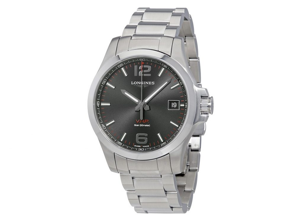 Longines Conquest V.H.P. Black Dial Men's Stainless Steel Watch L3.716.4.56.6